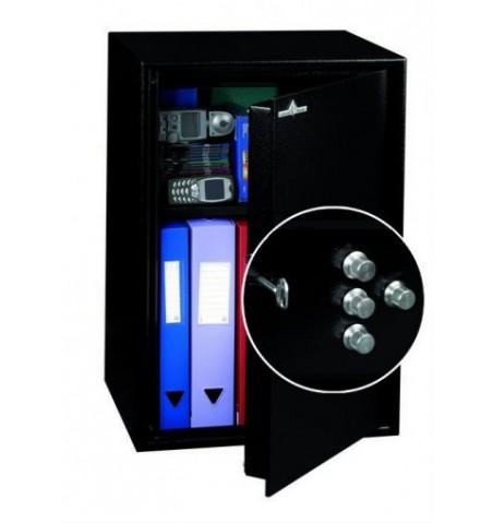 Coffre fort de sécurité HT 70 N2 Serrure à clés + Combinaison 4 Tubes Compteurs 72L