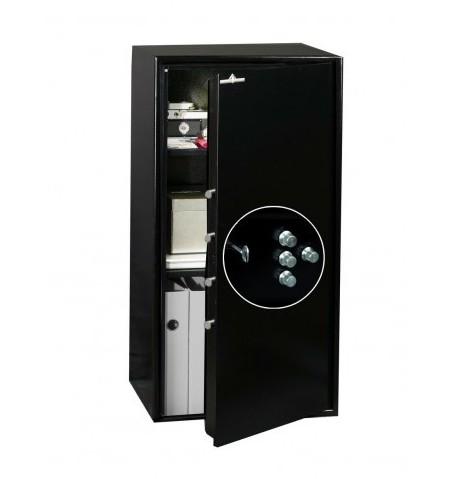 Coffre fort de sécurité HT 135 N2 Serrure à clés + Combinaison 4 Tubes Compteurs 135L
