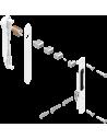 : Modèle:KIT FERMETURE DOUBLE RENOV AVEC CYLINDRE BLANC RAL9