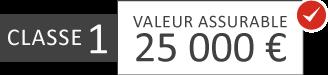 Classe 1: 25 000 €